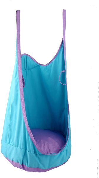 KINSPORY Kids Hanging Pod Swing Chair Indoor Outdoor Hammock Swing Seat - Pink