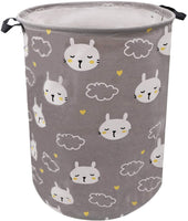 Pink Dinosaur Laundry Hamper 19.7Inch, ZUEXT Canvas Fabric Collapsible Clothes Hamper,Waterproof Dino Laundry Bin,Toy Bins,Dinosaur Gift Baskets for Girls Bedroom Baby Nursery(I Want to be a Dinosaur)