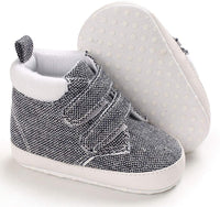 Infant Baby Boy Shoes High Top Toddler Sneakers Canvas Soft Sole Newborn Shoes for Baby Girls