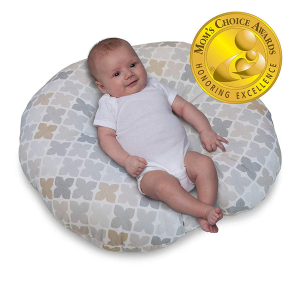 Boppy Original Newborn Lounger, Gray Taupe Four Square