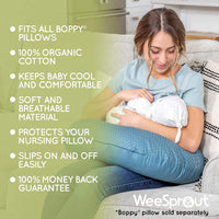 WEESPROUT Nursing Pillow Cover for Baby Boys & Girls | Fits Boppy Original Pillow | 100% Organic Cotton | Two-Sided Design | Breastfeeding/Positioning Slipcover | Protects Pillow | Machine Washable