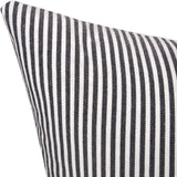 Merrycolor Farmhouse Decorative Throw Pillow Covers for Couch Stripe Faux Leather Accent Pillow Cover Boho Modern Decor Pillow Case 18 x 18 Inch(Black)
