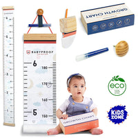 Growth Chart for Kids by Baby Proof - Measuring Height Chart and Kids Decor! Meaningful Memories Through Kid Size Chart Measurement. Night Sky Growth Chart Ruler for Wall with Wooden Keepsake Box