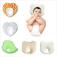 Baby Anti Roll Pillow Little Bear & Apple Shape Pillow Newborn Sleeping Positioner Cushion Flat Head Protect Newborn Bedding