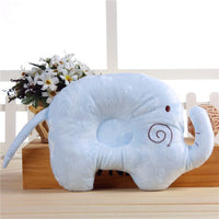 Newborn Baby Pillow Cotton Cartoon Animal Elephant Shape Memory Foam Nursing Soft Pillow For Infant Bebe Pillows Baby Beddings