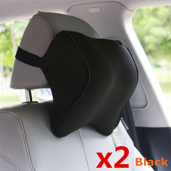 Pair Memory Foam Fabric Breathable Car Headrest Neck Pillow Head Neck Support