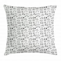 Cars Throw Pillow Cases Cushion Covers by Ambesonne Home Accent Decor 8 Sizes