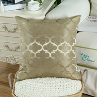 2Pcs Amber Gold Cushion Covers Pillow Cases Shell Accent Geometric Home 18x18 in