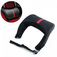 1*PU Leather Car Seat Neck Pillow Memory Foam Head Neck Rest Headrest Cushion F2