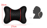 Pair Black Ice Silk Leather Car Headrest Pillow Cervical Autos Seat Neck Pillows