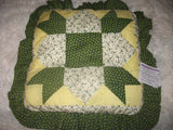 """Green County Pillow"" Handmade MK Design Great Gift 14""x 14"" 1-of-Kind"