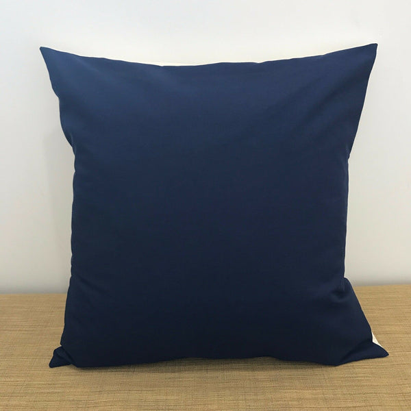 "18"" (45cm) Plain NAVY BLUE Accent Cushion Cover Pillow Case. Handmade Australia"