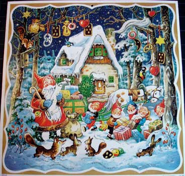 Advent Calendar : Santa & Elves