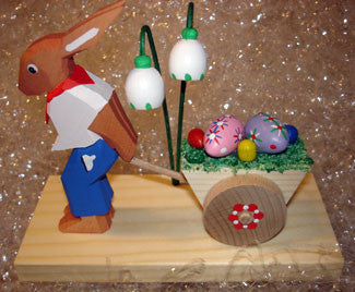 Handmade Easter Bunny with Egg Cart