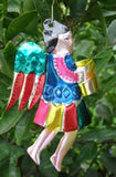 Mexican Tin Ornaments: Musical Angels