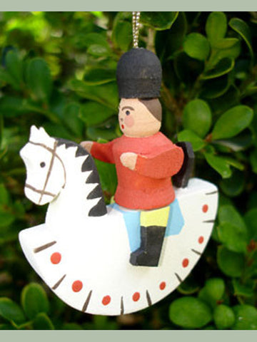 German Christmas Ornament: Rocking Horse