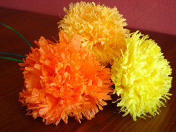 Paper Marigolds (by the dozen)