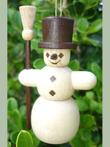 German Christmas Ornament: Snowman