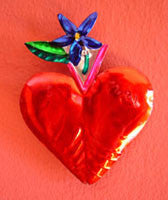 Mexican Tin Heart Ornaments