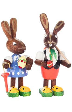 Handmade Wooden Bunnies from Germany