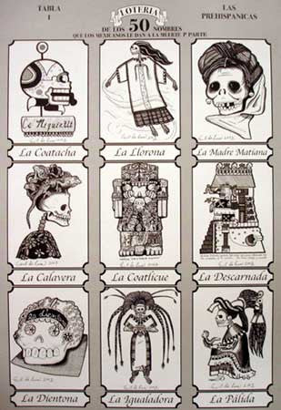 Day of the Dead Loteria Game