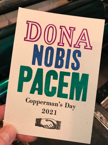 Copperman's Day 2021: Dona Nobis Pacem