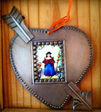 Oxidized Frame Heart