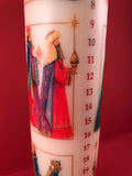 Advent Pillar Candle : Three Kings