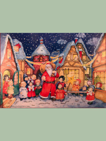 Advent Calendar : Santa in Village