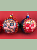 Mexican Glass Ornaments: Calaveras