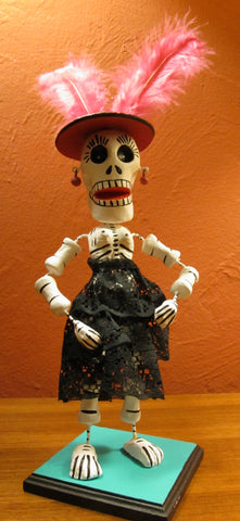 Mega Bendable Catrina with Plumes
