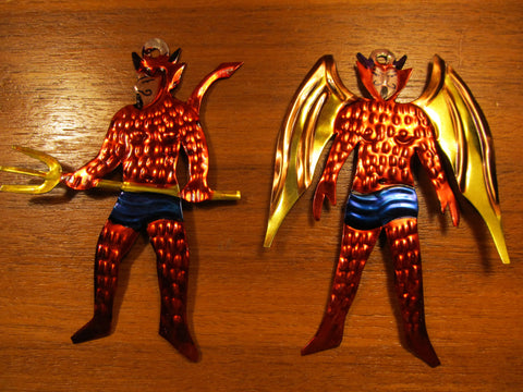 Tin Devil Ornaments
