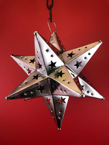 Mexican Tin Ornaments: Moravian Star, Large