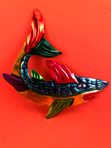 Mexican Tin Ornaments: Shark