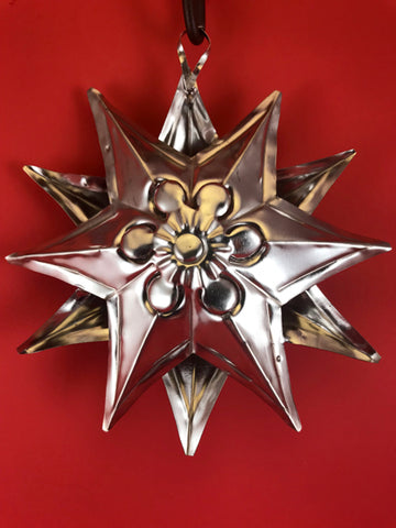 Mexican Tin Ornaments: Silver Star