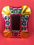 Mexican Tin Ornaments: Colorful Mirrors
