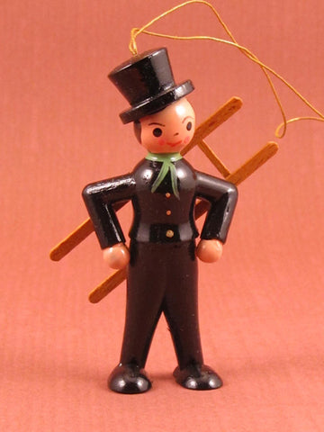 German Christmas Ornament: Vintage Chimney Sweep