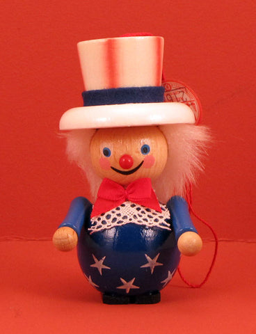 German Christmas Ornament: Uncle Sam