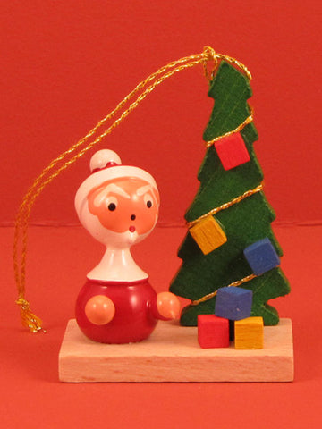 Spanish Christmas Ornament: Santa and Tree