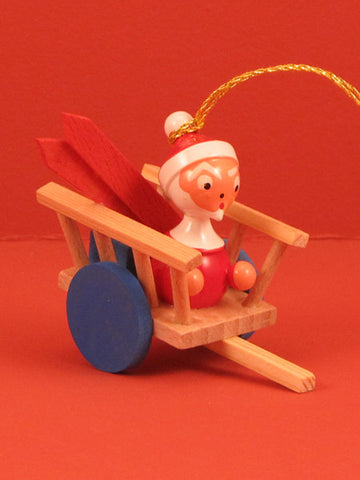 Spanish Christmas Ornament: Santa in Wagon