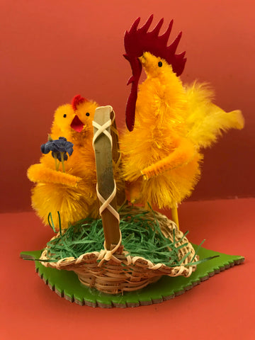 Chenille Chicks from Germany: Chicken Couple