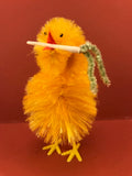 Chenille Chicks from Germany: Chick with Branches & Flowers