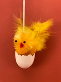 Chenille Chicks from Germany: Chick in Egg