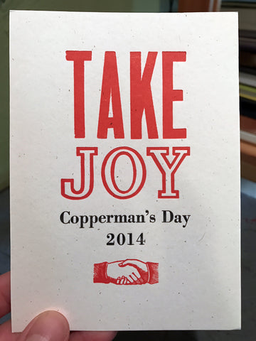 Copperman's Day 2014: Take Joy