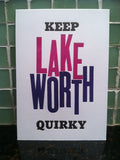 Keep Lake Worth Quirky: Letterpress Postcards/Miniprints (set of three)