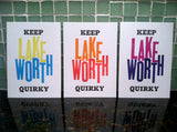 Keep Lake Worth Quirky: Letterpress Postcards/Miniprints