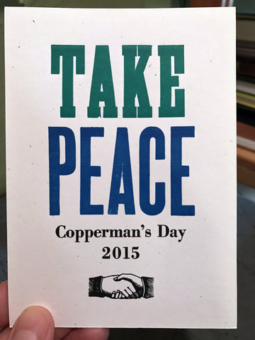 Copperman's Day 2015: Take Peace