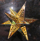 Mexican Tin Ornaments: Moravian Star Container, Small in Color