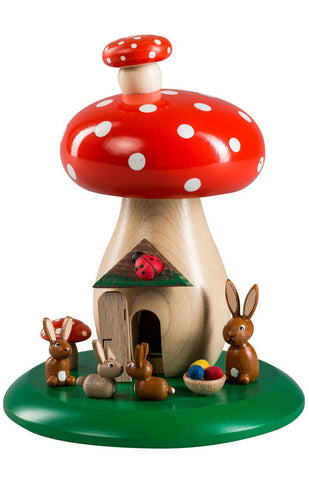 Handmade Toadstool Incense Smoker from Germany