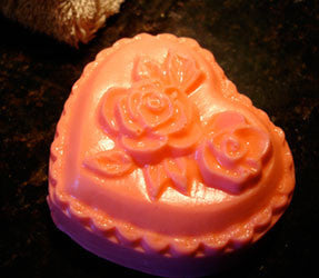 Handmade Glycerin Soaps: Pink Heart, set of two